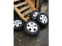 Transit custom 16 inch alloy wheels ford BRAND NEW with NEWcontinental tyres
