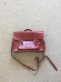 Leather Satchel Dark Red (Zatchels)