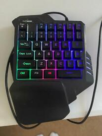 Gaming half keyboard