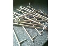16 no. Brushed Steel Kitchen Unit Handles 16 no