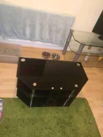 Semi new table glass black