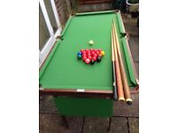 Green Small Snooker/Pool Table
