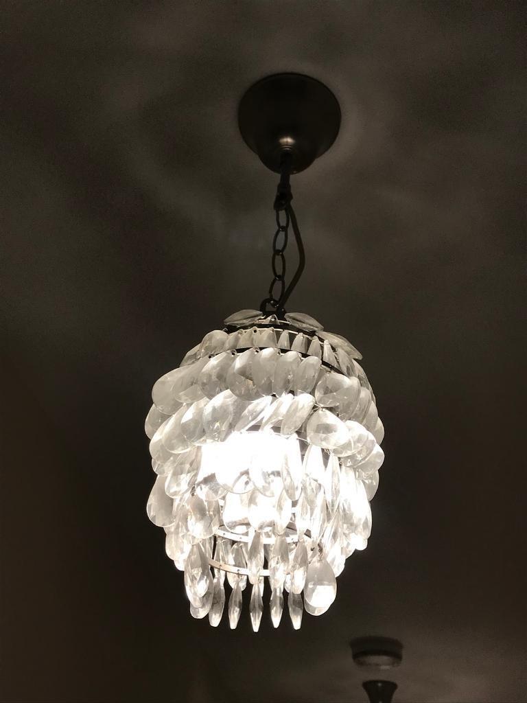 Laura ashley crystal effect drop chain link lighting fixtures