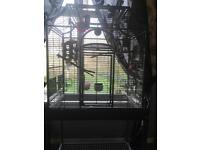 Large parrot / bird cage with stand beautiful cage