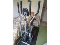 DTX Fitness 2 in 1 Elliptical Cross Trainer & Exercise Bike with Pulse Heart Rate Sensors