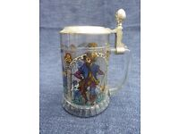 Decorative Glass Beer Tankard, collectible