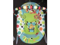 Bright starts jungle vibrating chair - use from birth