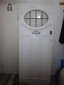 1930's leaded glass front door