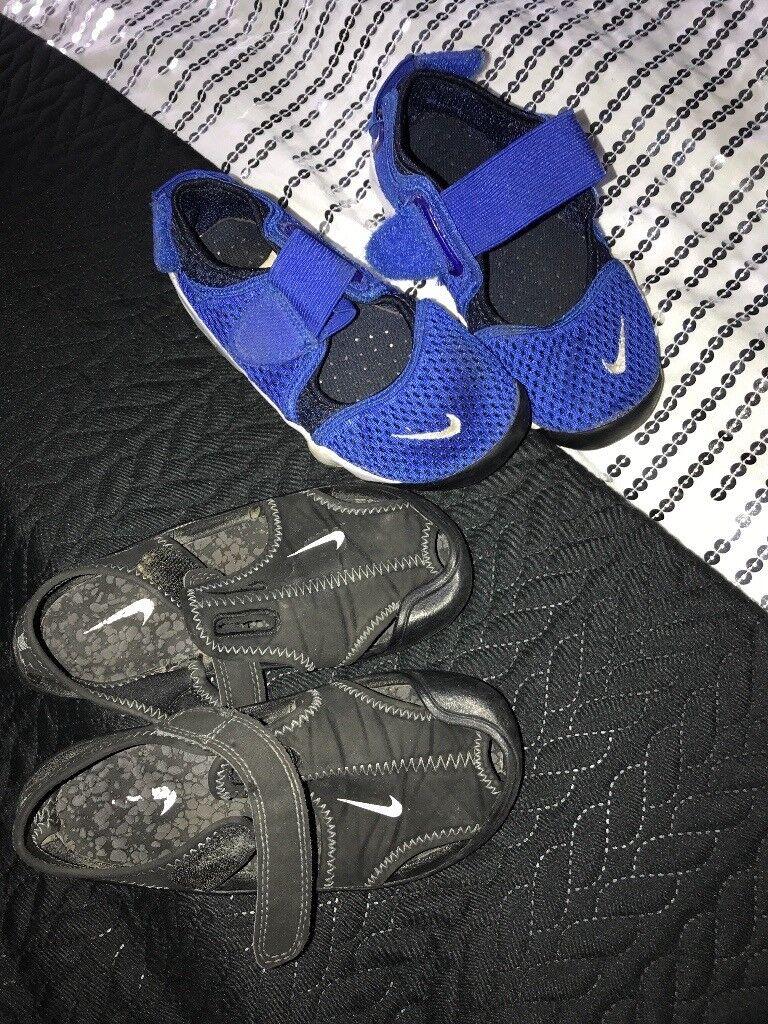 Nike breath rifts and Nike sanders size 11