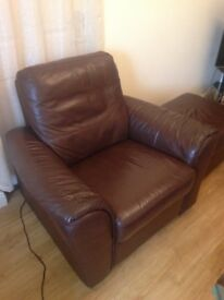 Electric recliner chair with ottoman