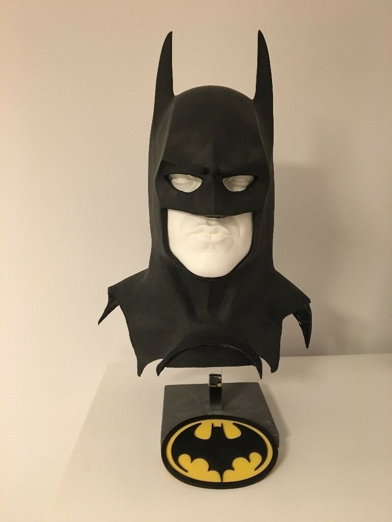 Batman 1989 replica mask, Michael Keaton Face cast and stand | in Leyton,  London | Gumtree
