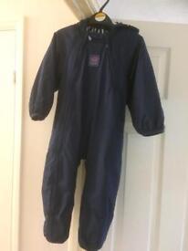 Fleece lined waterproof suit