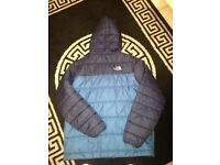 Men's 2 tone blue and navy North Face jacket size small