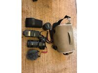 Canon 600D kit (2 lenses, flashgun & mic)