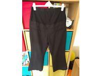 size 14 regular black maternity trousers red herring