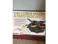 Crepe maker / wok / tapas set