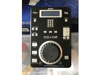 x2 DJ CD Deck & Mixer - Gemini CDJ-02 + Gemini CFX-20 + Numark DM1050