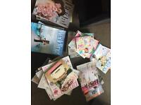 Large variety of up to date wedding magazines