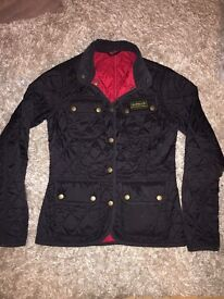 Women's Barbour quilted jacket size 8