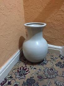 Large white ornamental vase