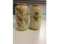 Crown Ducal Vases - Exotic Bird