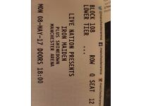 TWO Iron Madien Seating Tickets For Manchester Arena