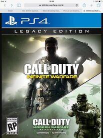 Selling infinite warfare, cod 4 edition