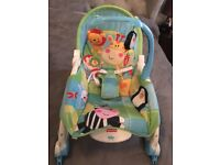 Fisher price newborn to toddler rocker. Very good condition from a smoke and pet free ho r.
