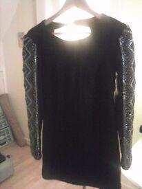 BNWT BLACK TOP SHOP party dress size 10