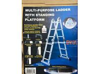 Multi purposes folding ladder with Platform