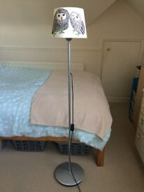 Children Vivid Owl Uplighter Floor Lamp – Silver, Height: 135cm