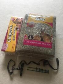 *FREE* hay, saw dust, harness, carrot holder