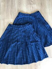 Twynham School Skirt X2 vgc W26 L20