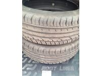 205/55VR17 Continental Premium Contact 2 SSR Runflats (Two tyres nearly new)