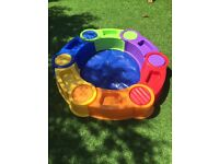 Columbus Water & Sand Pit - Stackable with Blue Plastic Cover