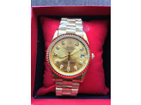 Rolex Datejust Gold, Automatic Watch, Metal Strap *1st Class Postage Available*