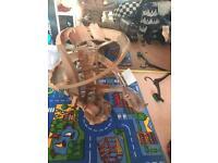 Radiator springs motorised car set toys