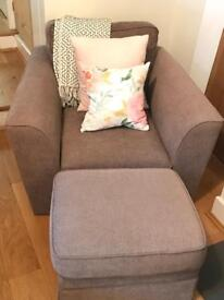 John Lewis lounge chair and footstool
