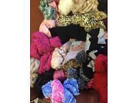 55 x used Scarves / Wraps / Shawls
