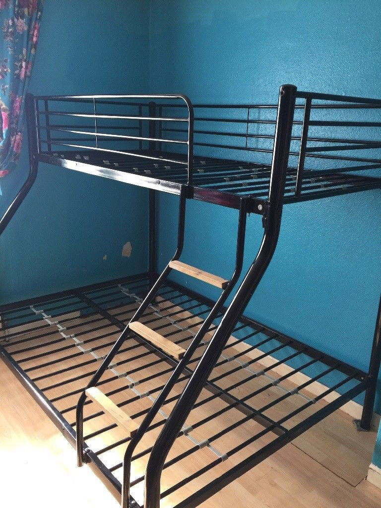Used Metal Triple Sleeper Bunk Bed With One Mattress In Northfield