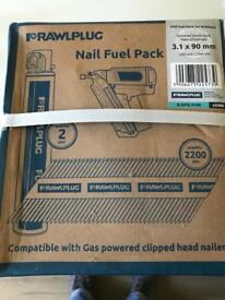 Nail gun nails 2200 and2 fuel cells
