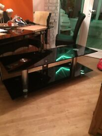 Glass tv stand for 60+ tv