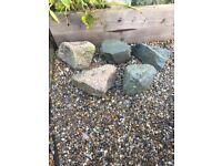 Rockery stones boulders