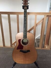 Left Handed Taylor 110 Electro Acoustic Guitar