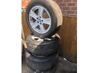 "BMW X5 Continental Ride Flat Tyres / Alloys 18"" x 4"