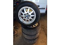 bmw 3 series alloy wheels 205 60 15 excellent tyres