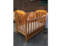 Baby's Cot / Child's Cot - Solid Pine - In Good Condition - Reduced