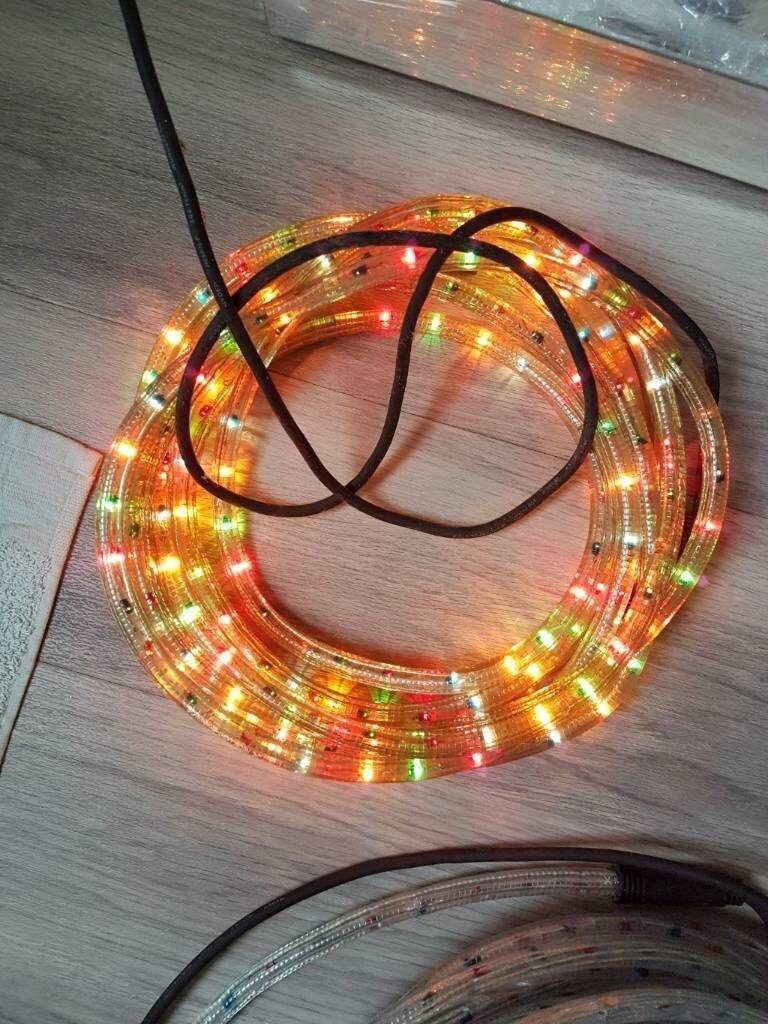 Multi coloured rope lights indooroutdoor 6 8 metres in multi coloured rope lights indooroutdoor 6 8 metres aloadofball Images