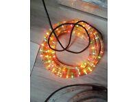 multi coloured rope lights - indoor/outdoor - 6 & 8 metres