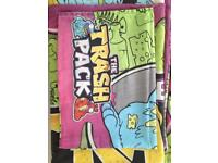 Trash pack single quilt cover and matching pillowcase